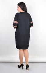 Вірей. Стильне плаття для великих розмірів. Чорний.