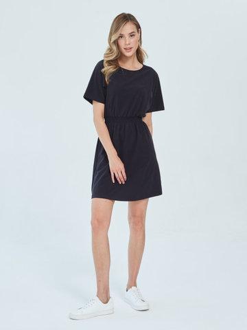 Платье для кормящих пояс-резинка Черный