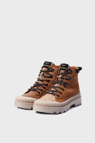 Женские коричневые кожаные ботинки ASCOT DESERT FUR Pepe Jeans