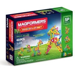 MAGFORMERS Магнитный конструктор Neon color set 60 (63110)