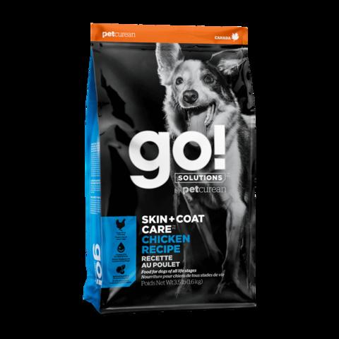 Go! Skin + Coat Сухой корм для щенков и собак с курицей, фруктами и овощами
