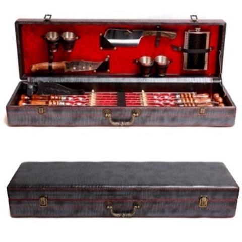 Кизлярский набор шампуров в коробке кожзам №2