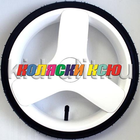Колесо для детской коляски №006119 надув 12 дюймов (60-230) низкопрофильное Цвет:БЕЛЫЙ