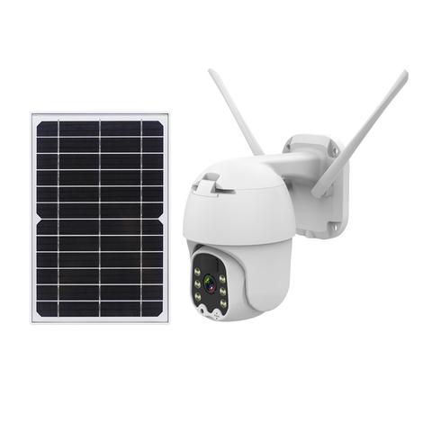 Уличная IP камера 4G LTE FHD 2MP PTZ 1920×1080 поворотная с солнечной панелью автономная камера