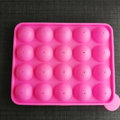 Силиконовая форма для кейк попсов 20 ячеек