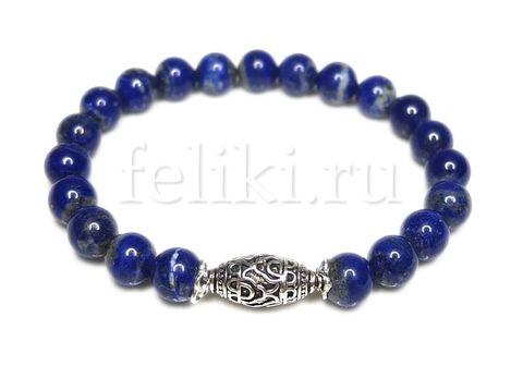 синий браслет из лазурита