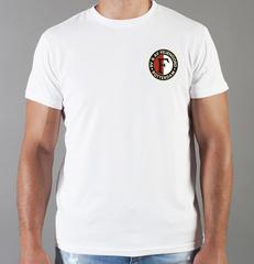 Футболка с принтом FC Feyenoord  (ФК Фейеноорд) белая 005