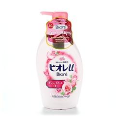 Гель для душа Kao Biore с низким Ph уровнем и ароматом Розовой ангельской розы 480 мл