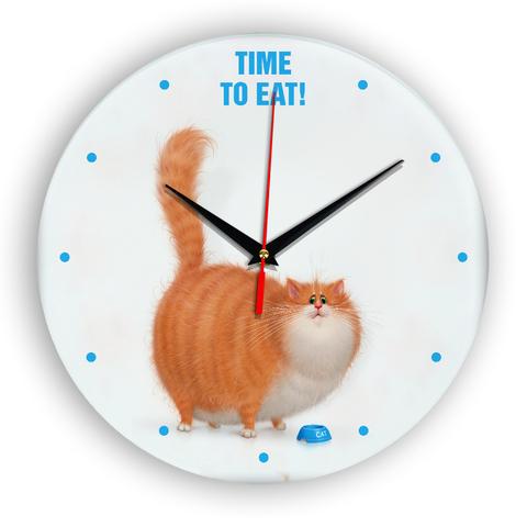 Настенные часы Жирный кот Time to eat!