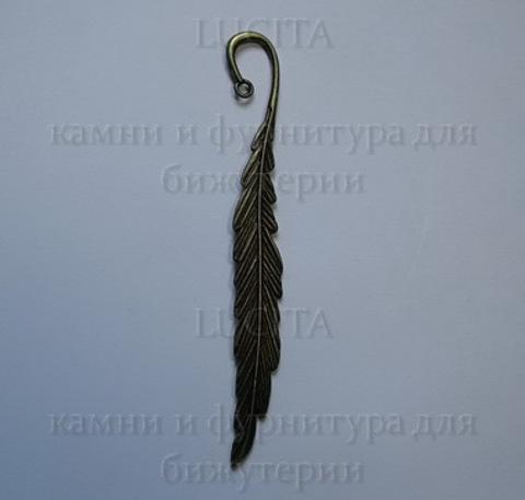 """Основа для закладки """"Перо"""" (цвет - античная бронза) 12 см ()"""
