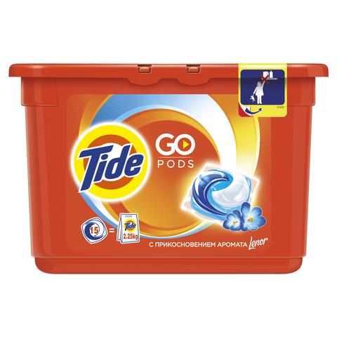 """Гель для стирки """"Tide"""" в капсулах с прикосновением аромата Lenor 15х24,8г"""