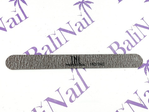 Пилка для ногтей узкая 180/240 высокое качество (коричневая) (пластиковая основа)