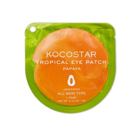 KOCOSTAR   Гидрогелевые патчи для глаз Тропические фрукты (2 патча/1 пара) (Папайя) / Tropical eye patch Papaya, (3 г)