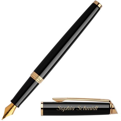 Перьевая ручка Waterman Hemisphere, цвет: Mars Black/GT, перо: F123