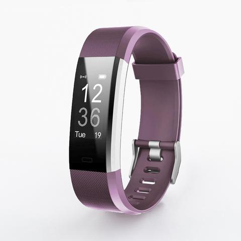 Браслет здоровья с измерением давления и пульса Health Band №115 (фиолетовый)