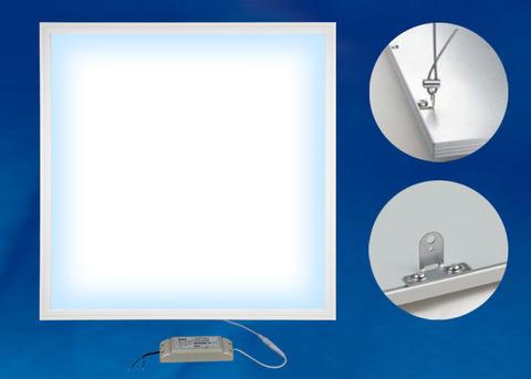 ULP-6060-36W/6500K/HM EFFECTIVE WHITE Светильник светодиодный потолочный встраиваемый с креплением. Дневной свет (6500K). Корпус белый. В комплекте с и/п. ТМ Uniel.