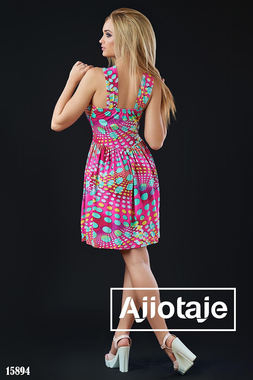 Малиновое платье миди в горошек