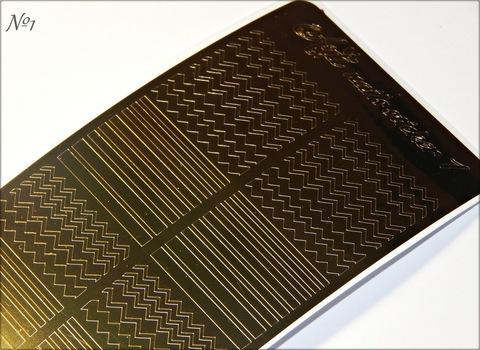 Металлизированные наклейки Arti nails Stiker цвет золото №1 купить за 100руб