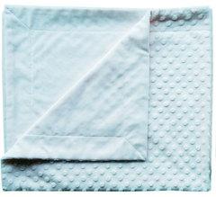 Папитто. Плед двухслойный вельбоа рельефный 82х92 см голубой