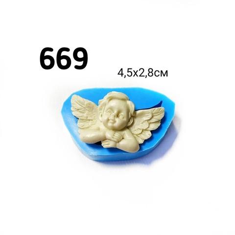 0669 Молд силиконовый. Ангелок