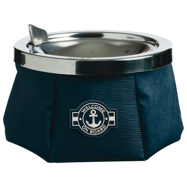 ASHTRAY WITH COVER, WINDPROOF – WELCOME BLUE