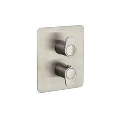 Встраиваемый термостатический смеситель для душа ALEXIA 368712SNC никель, на 2 выхода