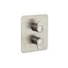Встраиваемый термостатический смеситель для душа ALEXIA 368712SNC никель, на 2 выхода - фото №1
