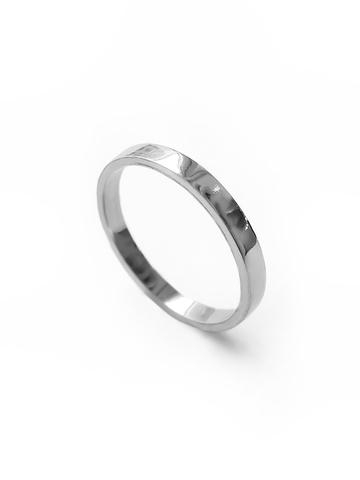 Серебряное узкое кольцо с прямым профилем, 2 мм