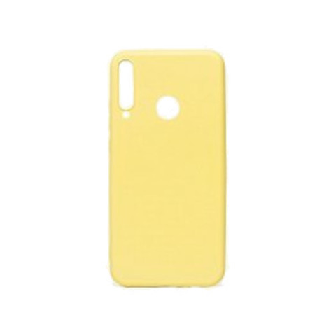 Чехол для Huawei Honor 9С/P40 Lite E Софт тач мягкий эффект   микрофибра желтый