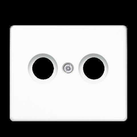 Накладка  двойная для антенных розеток. Цвет Белый. JUNG SL. SL561TVWW