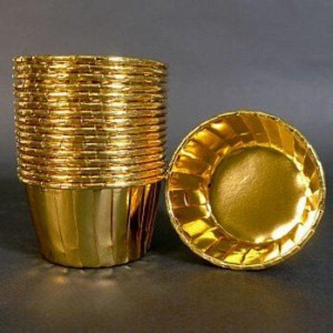 Капсулы для мафинов Polca Dot золото 50*40, 20шт.