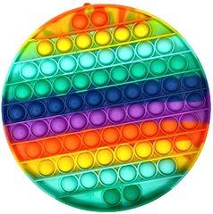 Пупырка вечная антистресс pop it (поп ит) большая 20 см - набор 2 шт - амонг ас и круг