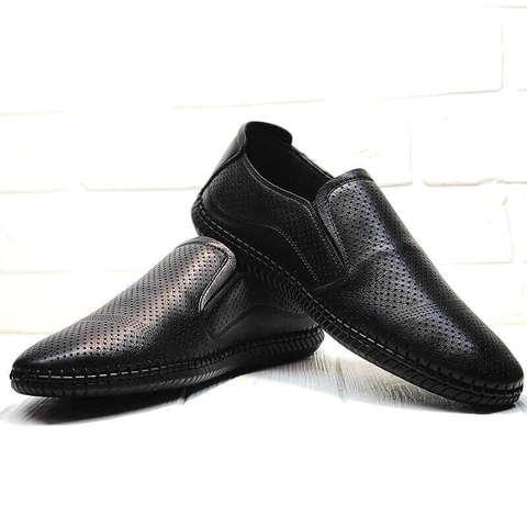 Туфли слипоны мужские кэжуал Ridge Z-291-80 All Black.