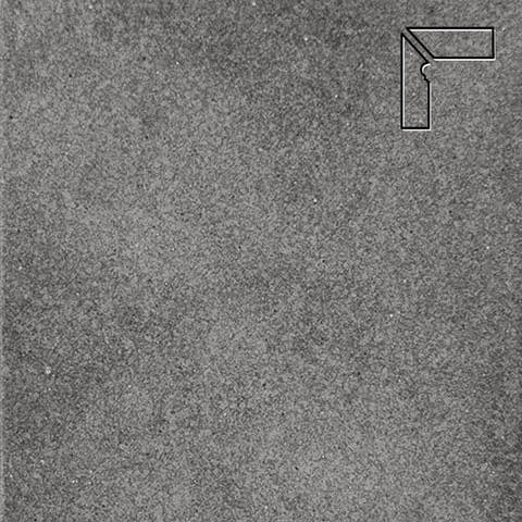 Interbau - Alpen, Anthrazit/Антрацит, цвет 058 - Клинкерный плинтус ступени левый, 3 части