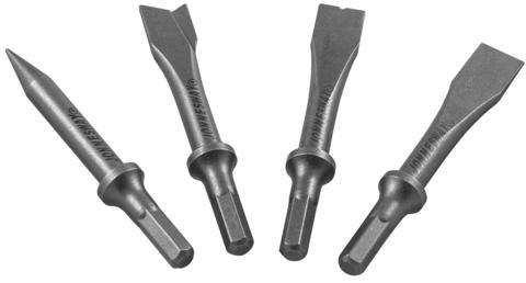 JAZ-3944H Комплект насадок коротких для пневматического молотка (JAH-6832/6833/H), 4 предмета