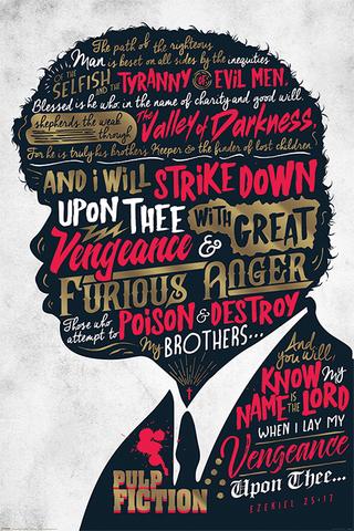 Постер: Pulp Fiction (Ezekiel 25:17)