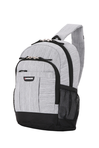 Рюкзак на одно плечо серый 13 л WENGER Grey Heather 2610424550