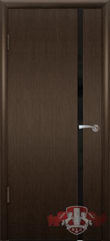 Дверь 8ДГ4 чёрн. Трипл. (венге, глухая шпонированная), фабрика Владимирская фабрика дверей