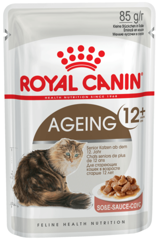 Влажный корм для кошек старше 12 лет (в соусе)