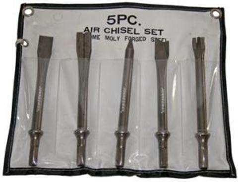 JAZ-3945H Комплект насадок длинных для пневматического молотка (JAH-6832/6833/H), 5 предметов