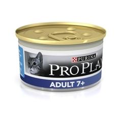 Консервы Purina Pro Plan Adult 7+, для взрослых кошек старше 7 лет, с тунцом