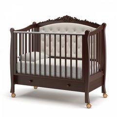 Кровать детская Жанетт new с колесами и ящиком шоколад