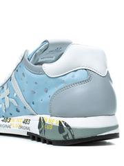 Комбинированные голубые кроссовки Premiata Lucy-D 4640 с перфорацией