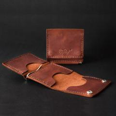 Smart гаманець з затиском, натуральна шкіра, ручна робота