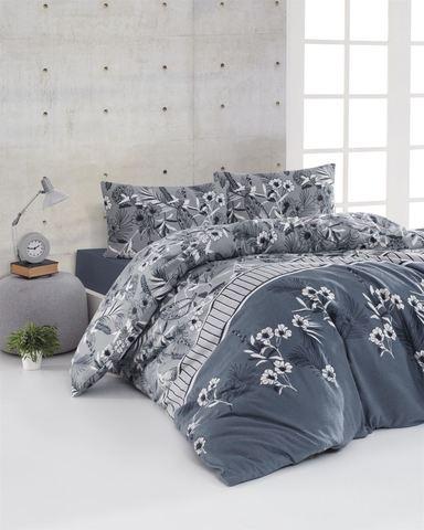 Комплект постельного белья DO&CO FLANNEL Евро (50х70/2) BURRELL цвет синий