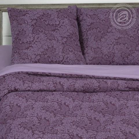 Комплект постельного белья Вирджиния (фиолетовый) DE LUXE с простынью на резинке