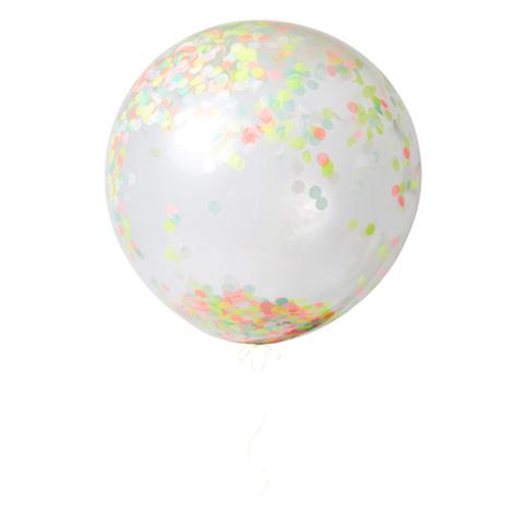 Воздушные шары с конфетти, неон, бол.