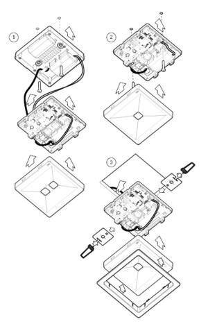 Монтажная схема для светильников аварийного освещения ONTEC R M1U 301 NM ST