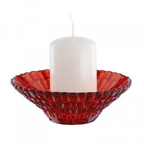Подсвечник красный+свеча артикул 82064. Серия Bossa Nova