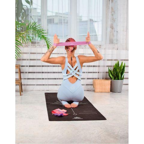 Коврик для йоги Art-Lotos 183*66*0,3 см из микрофибры и каучука